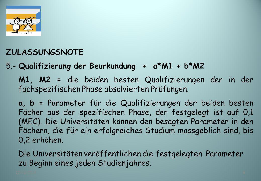 5.- Qualifizierung der Beurkundung + a*M1 + b*M2