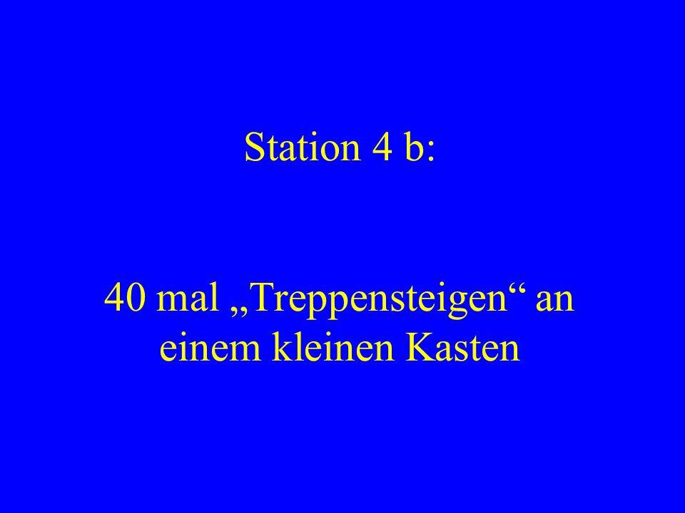 """Station 4 b: 40 mal """"Treppensteigen an einem kleinen Kasten"""