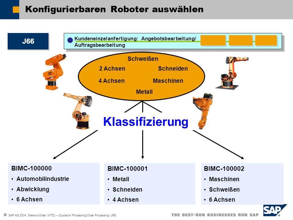 Konfigurierbaren Roboter auswählen