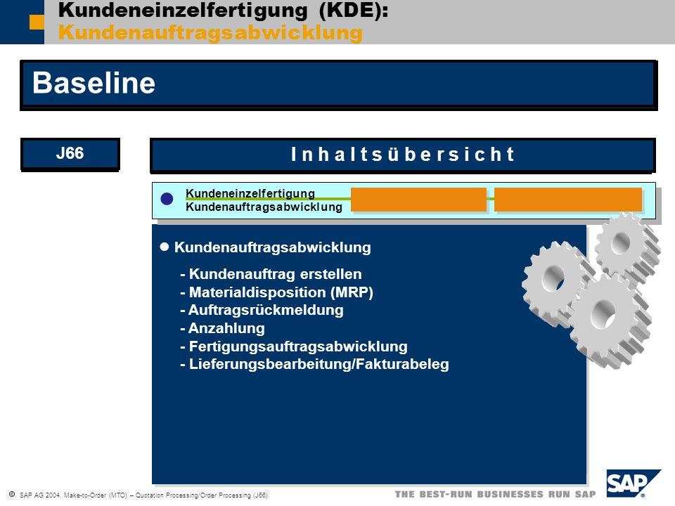 Kundeneinzelfertigung (KDE): Kundenauftragsabwicklung
