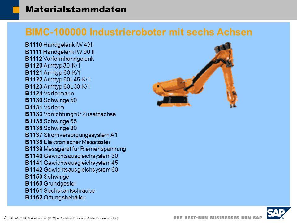 BIMC-100000 Industrieroboter mit sechs Achsen