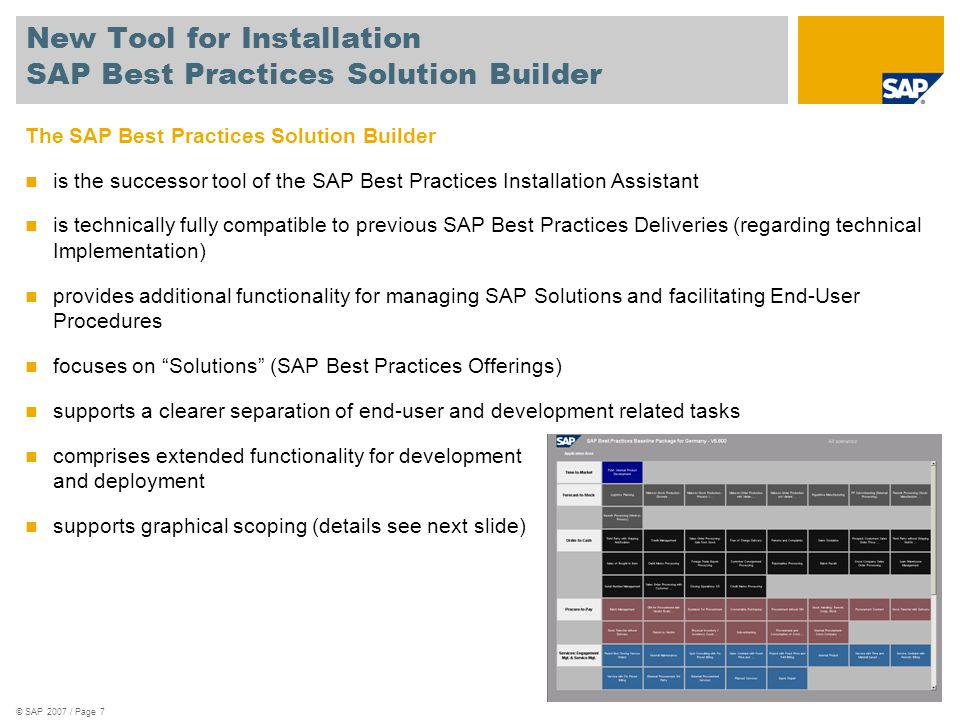 New Tool for Installation SAP Best Practices Solution Builder