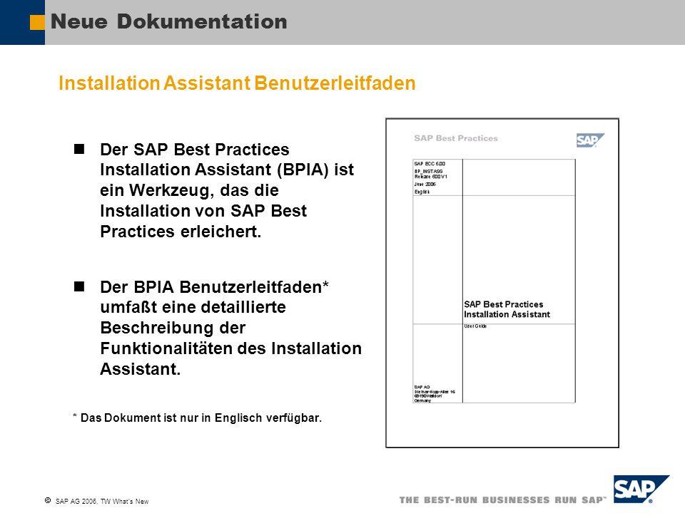Neue Dokumentation Installation Assistant Benutzerleitfaden