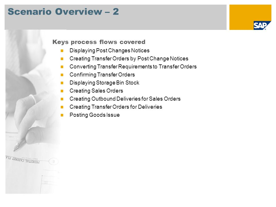Scenario Overview – 2 Keys process flows covered