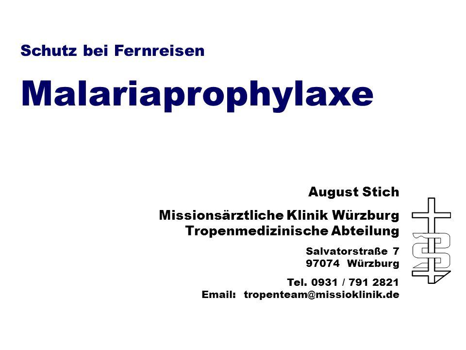 Malariaprophylaxe Schutz bei Fernreisen August Stich