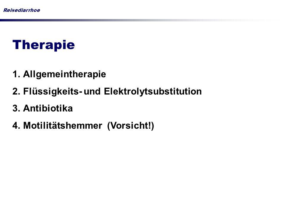 Therapie Allgemeintherapie Flüssigkeits- und Elektrolytsubstitution