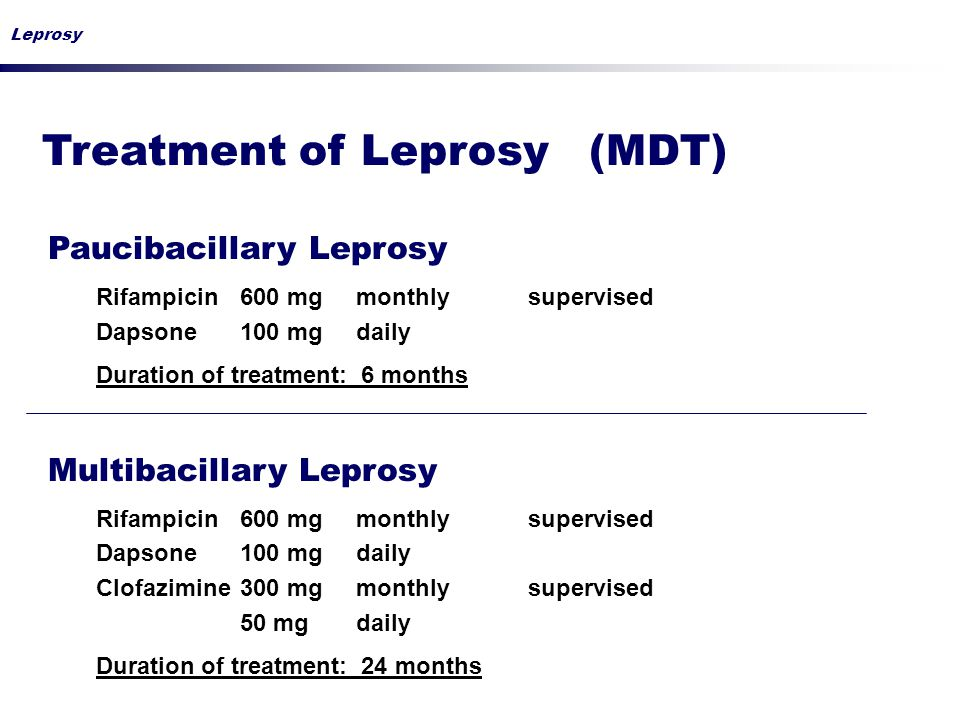 Treatment of Leprosy (MDT)