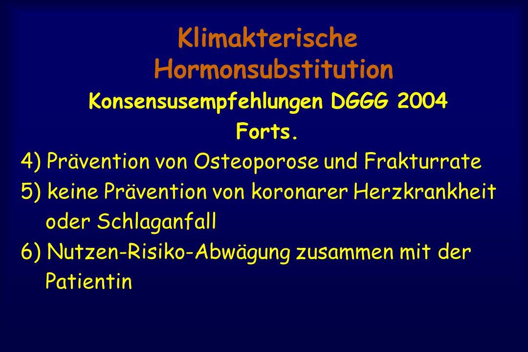 Klimakterische Hormonsubstitution