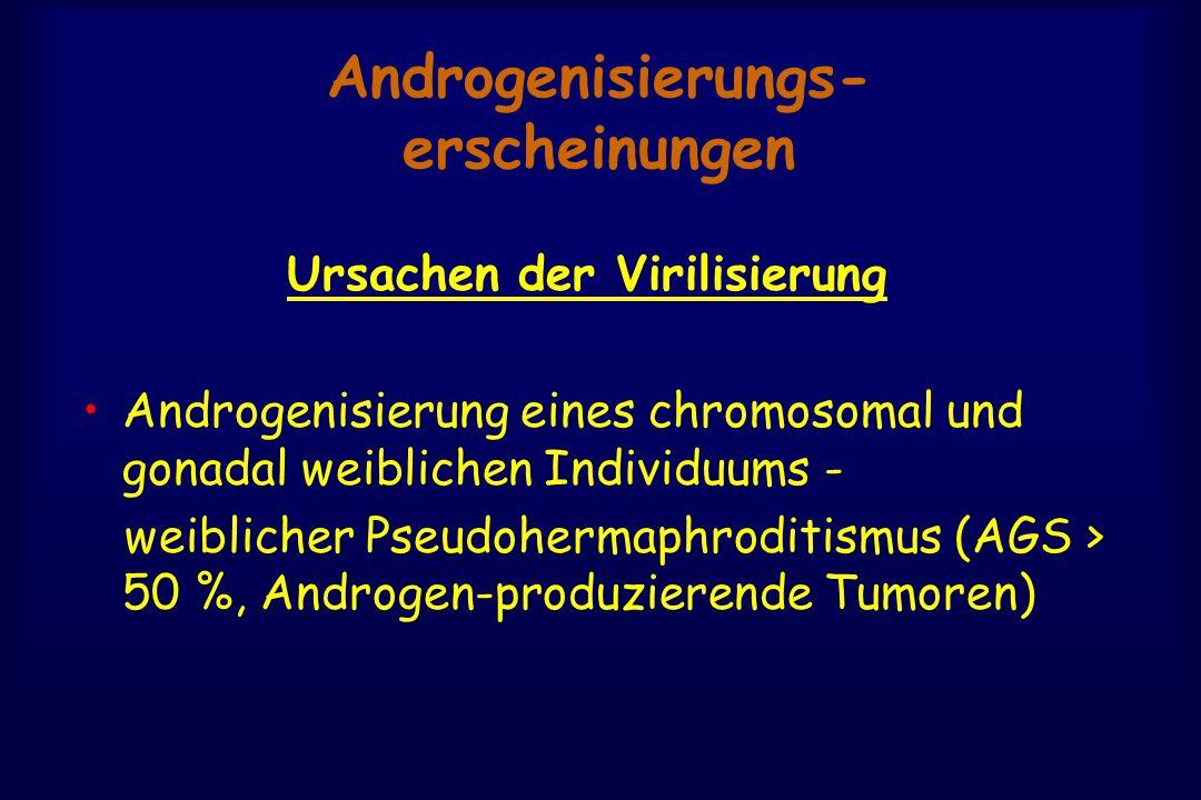Androgenisierungs- erscheinungen