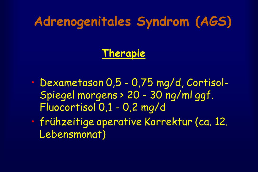 Adrenogenitales Syndrom (AGS)