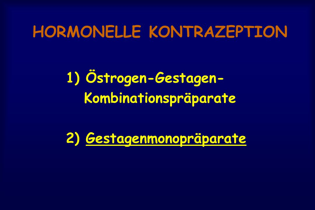 HORMONELLE KONTRAZEPTION