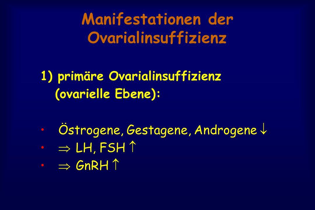 Manifestationen der Ovarialinsuffizienz