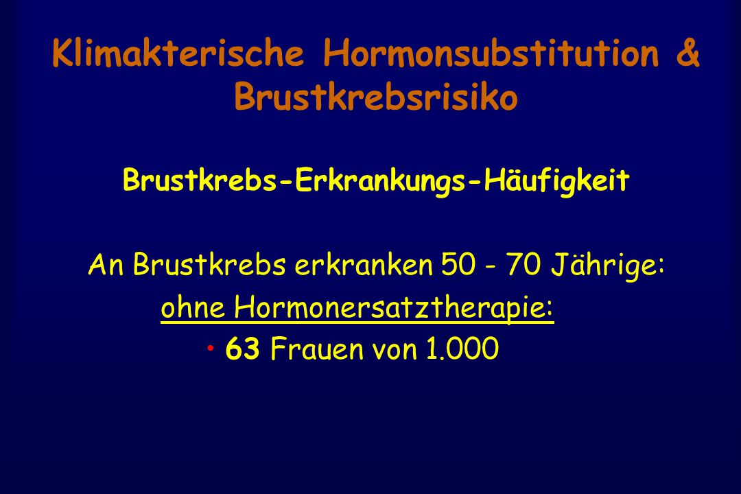 Klimakterische Hormonsubstitution & Brustkrebsrisiko