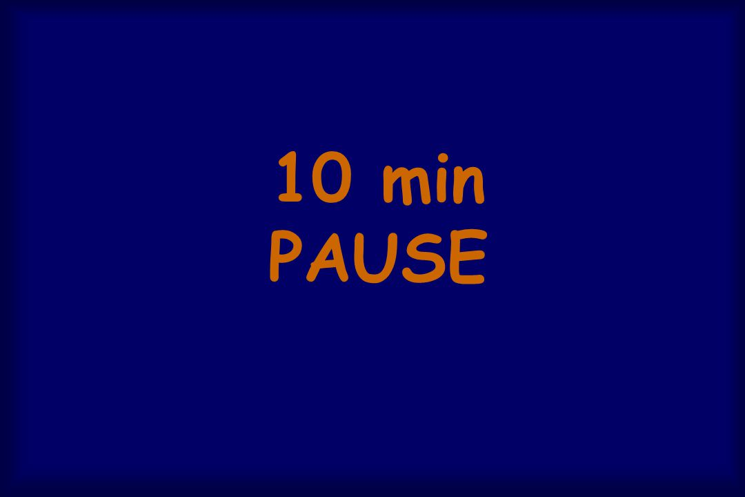 10 min PAUSE