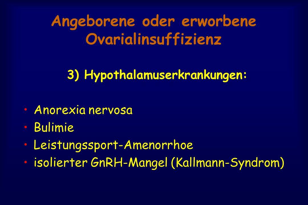 Angeborene oder erworbene Ovarialinsuffizienz