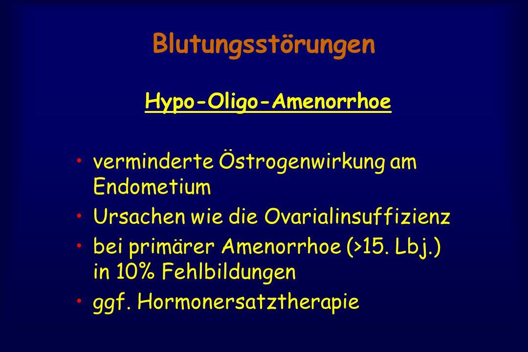 Hypo-Oligo-Amenorrhoe