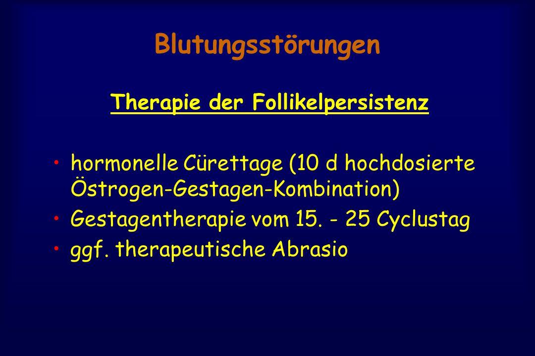 Therapie der Follikelpersistenz