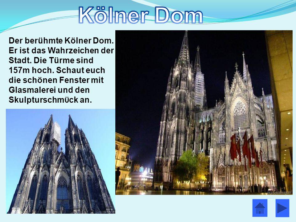 Der berühmte Kölner Dom. Er ist das Wahrzeichen der Stadt