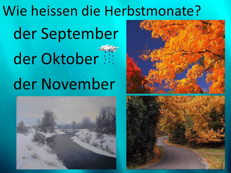 Wie heissen die Herbstmonate