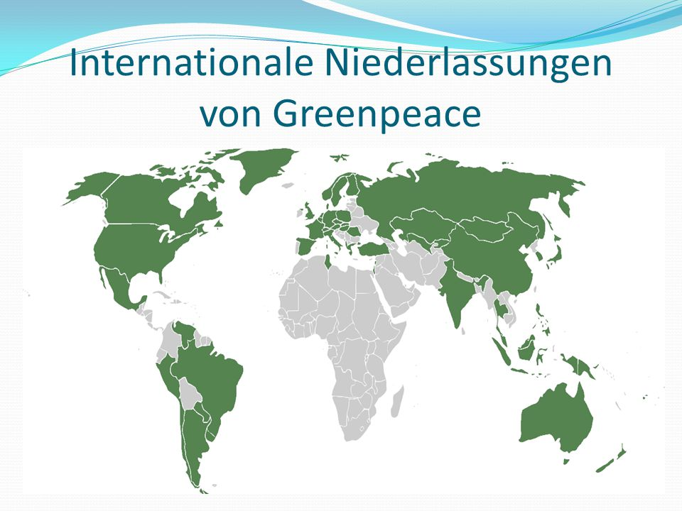 Internationale Niederlassungen von Greenpeace