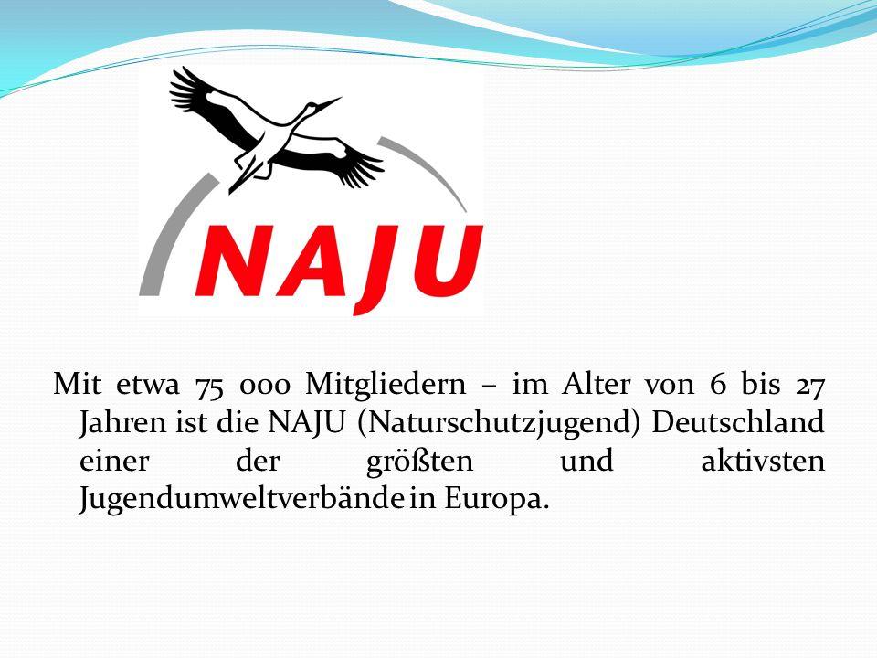Mit etwa 75 000 Mitgliedern – im Alter von 6 bis 27 Jahren ist die NAJU (Naturschutzjugend) Deutschland einer der größten und aktivsten Jugendumweltverbände in Europa.