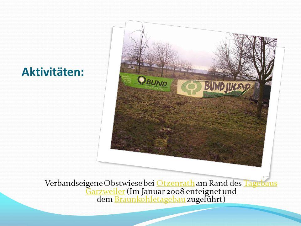 Aktivitäten: Verbandseigene Obstwiese bei Otzenrath am Rand des Tagebaus Garzweiler (Im Januar 2008 enteignet und dem Braunkohletagebau zugeführt)