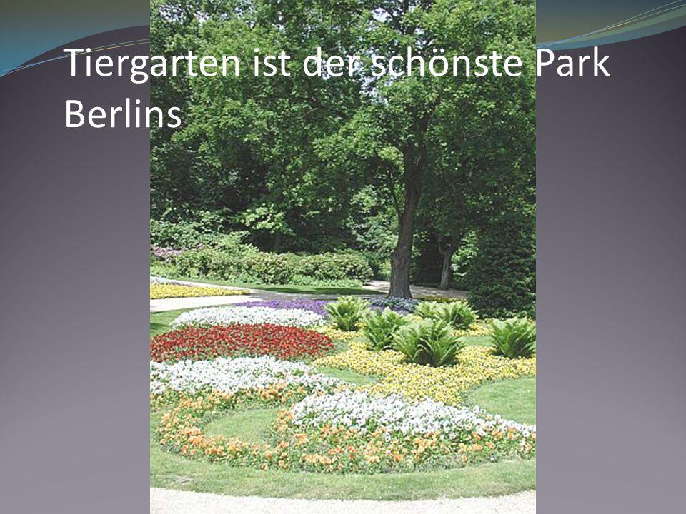 Tiergarten ist der schönste Park Berlins