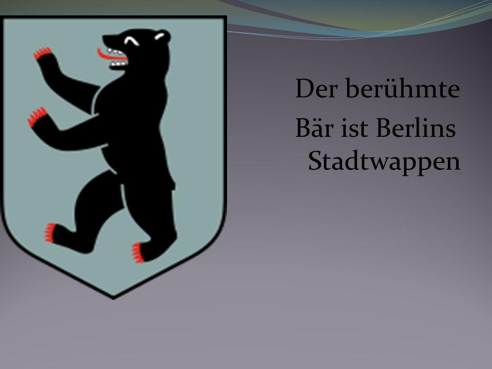 Der berühmte Bär ist Berlins Stadtwappen