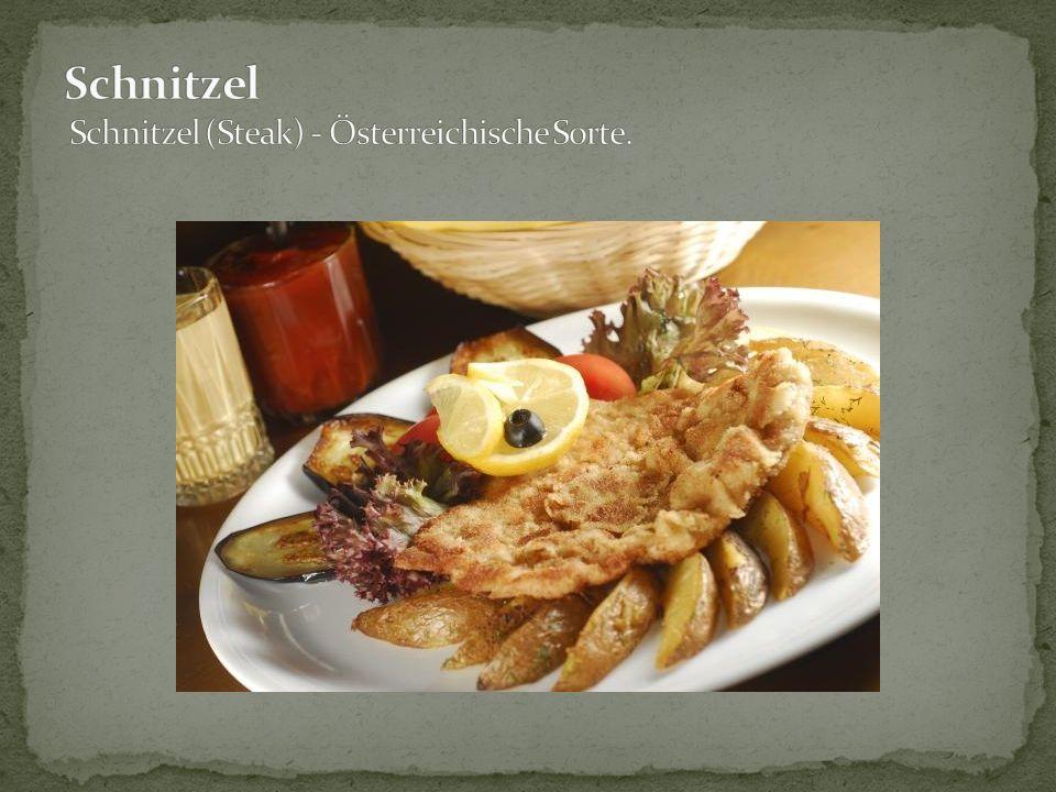 Schnitzel Schnitzel (Steak) - Österreichische Sorte.