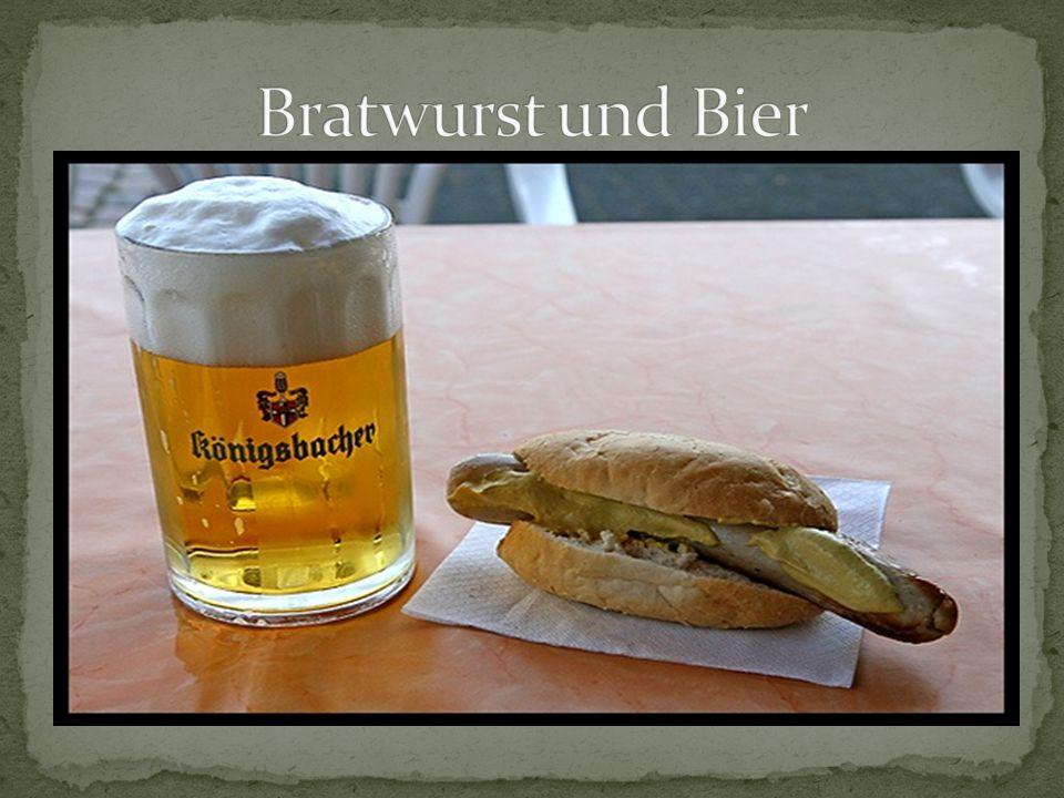 Bratwurst und Bier