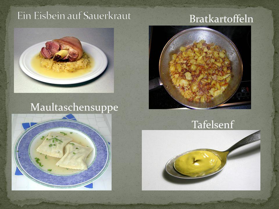 Ein Eisbein auf Sauerkraut