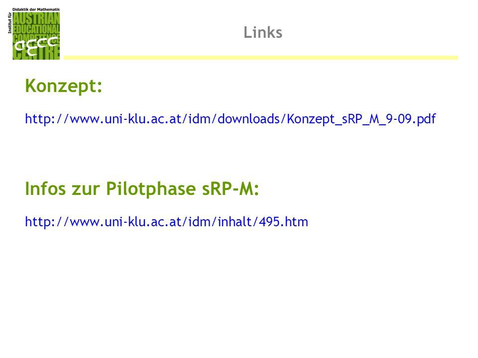 Infos zur Pilotphase sRP-M: