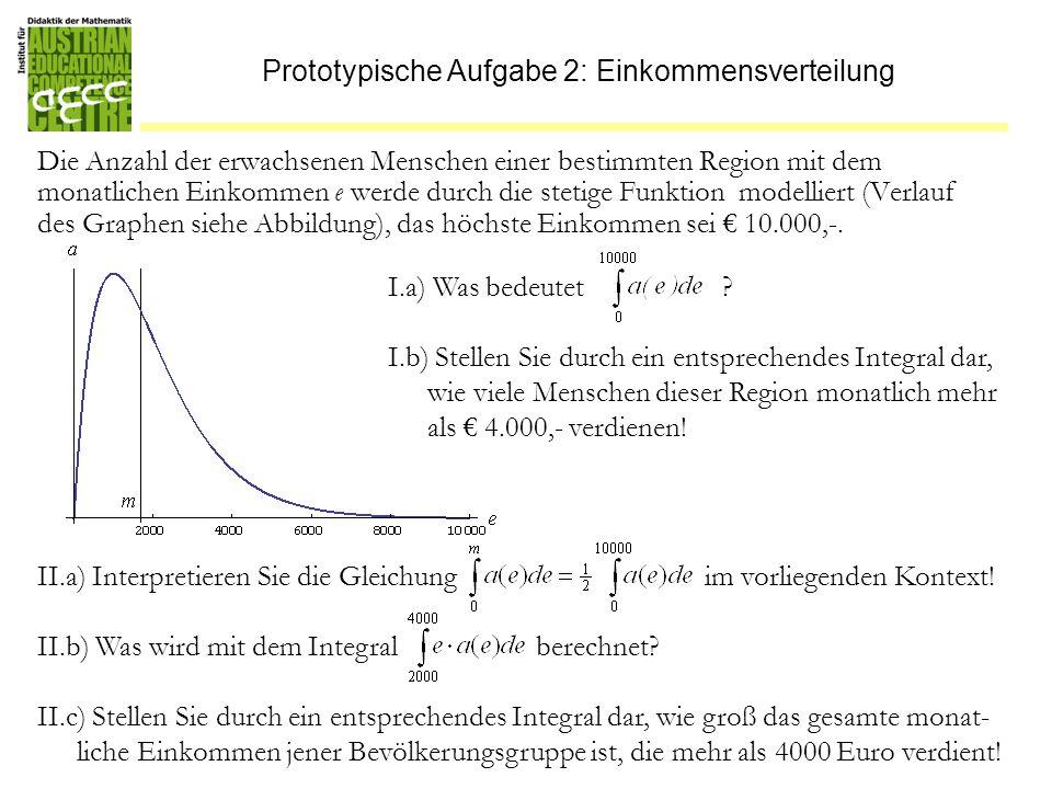 Prototypische Aufgabe 2: Einkommensverteilung