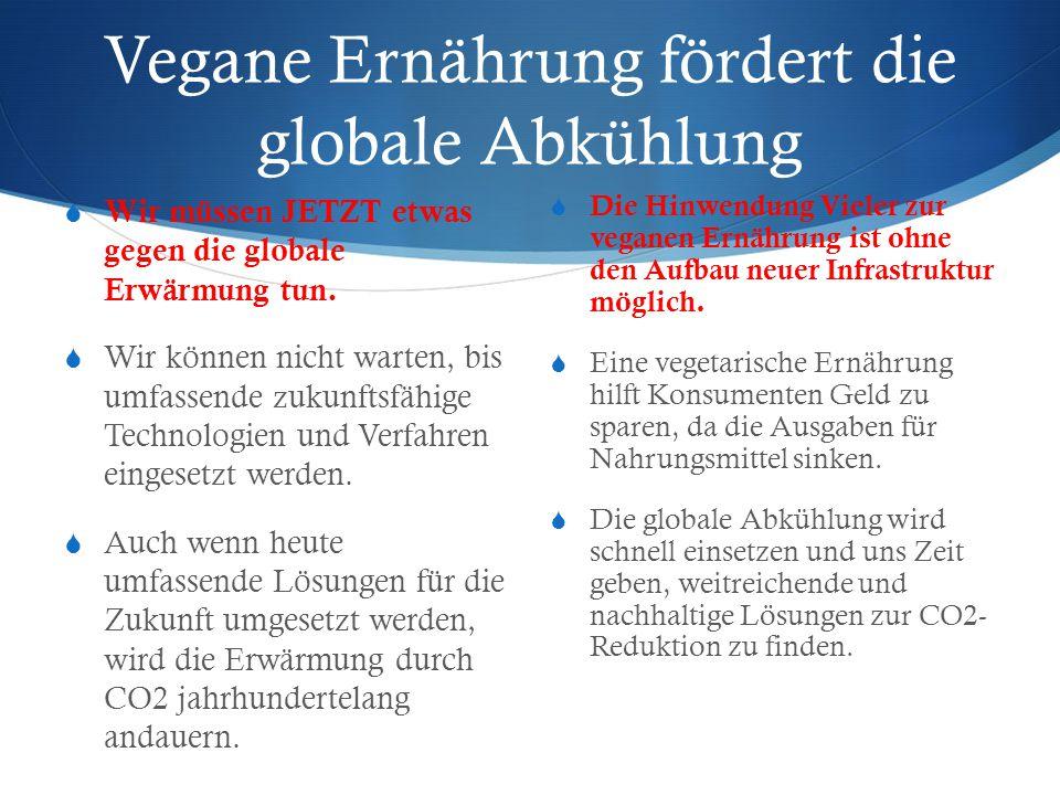Vegane Ernährung fördert die globale Abkühlung