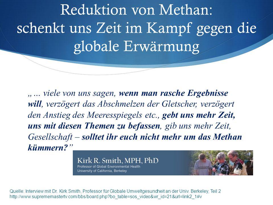 Reduktion von Methan: schenkt uns Zeit im Kampf gegen die globale Erwärmung