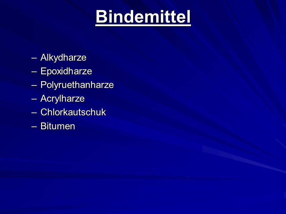 Bindemittel Alkydharze Epoxidharze Polyruethanharze Acrylharze