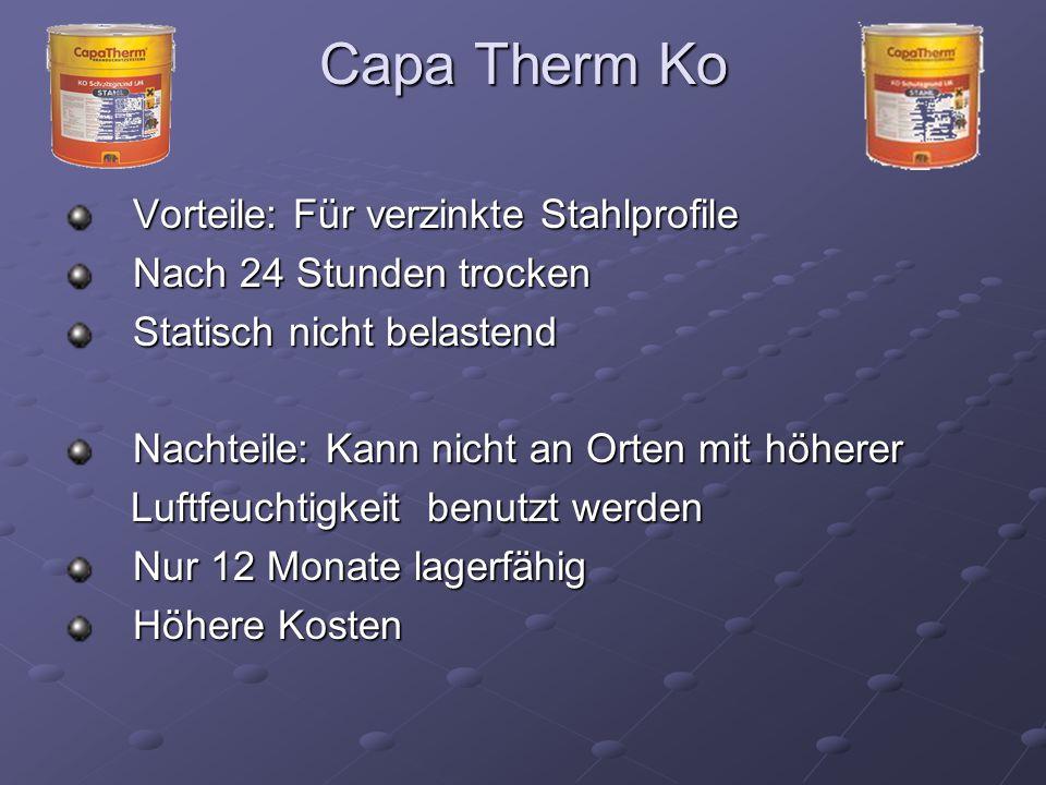 Capa Therm Ko Vorteile: Für verzinkte Stahlprofile