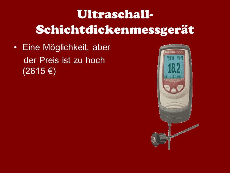 Ultraschall-Schichtdickenmessgerät