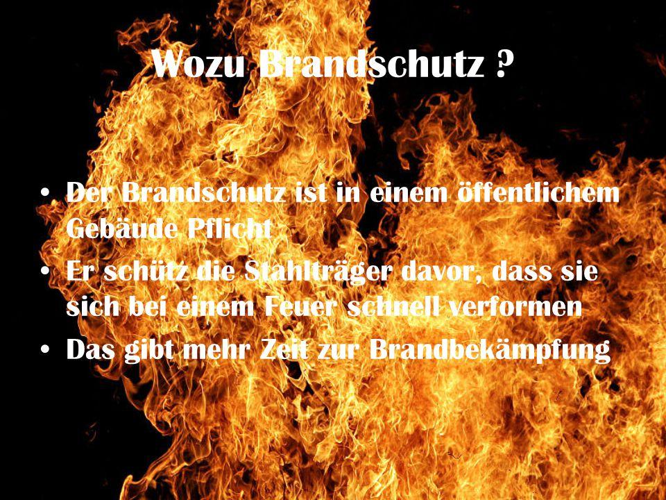 Wozu Brandschutz Der Brandschutz ist in einem öffentlichem Gebäude Pflicht.