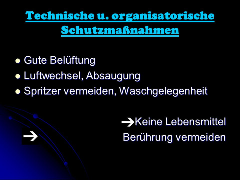 Technische u. organisatorische Schutzmaßnahmen