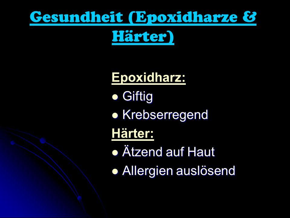 Gesundheit (Epoxidharze & Härter)
