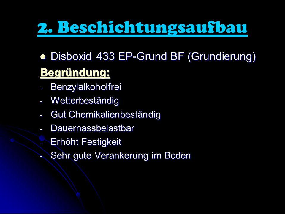 2. Beschichtungsaufbau Disboxid 433 EP-Grund BF (Grundierung)