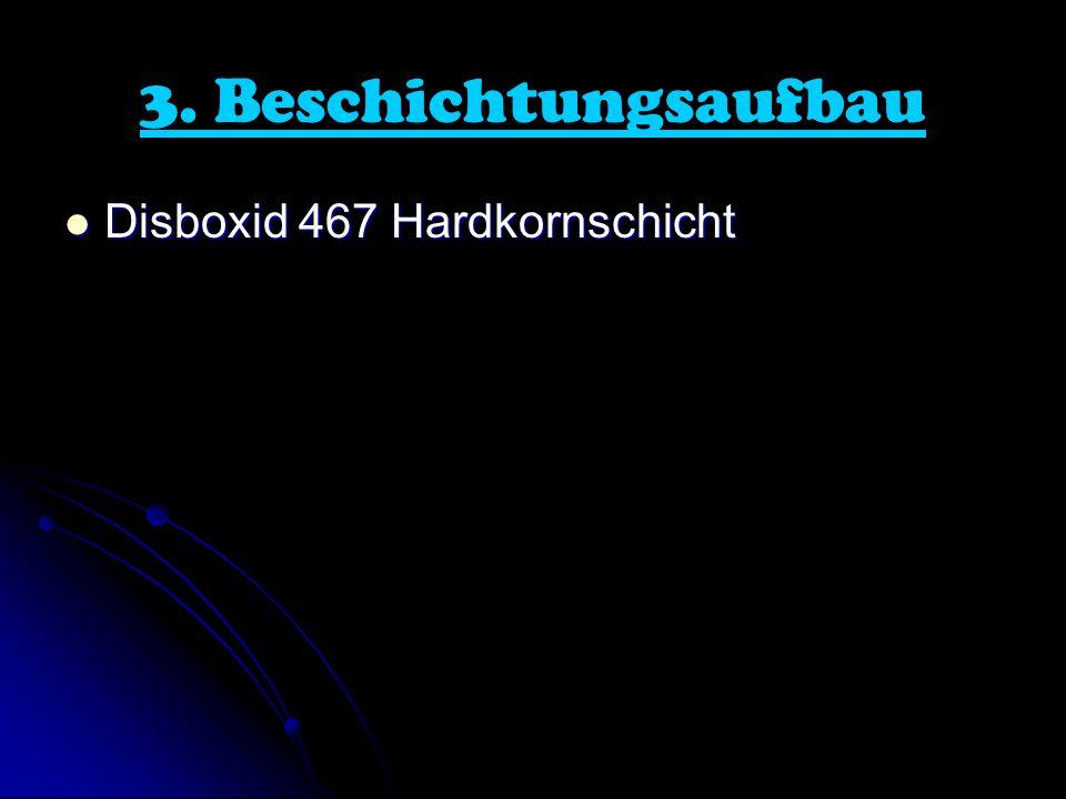 3. Beschichtungsaufbau Disboxid 467 Hardkornschicht