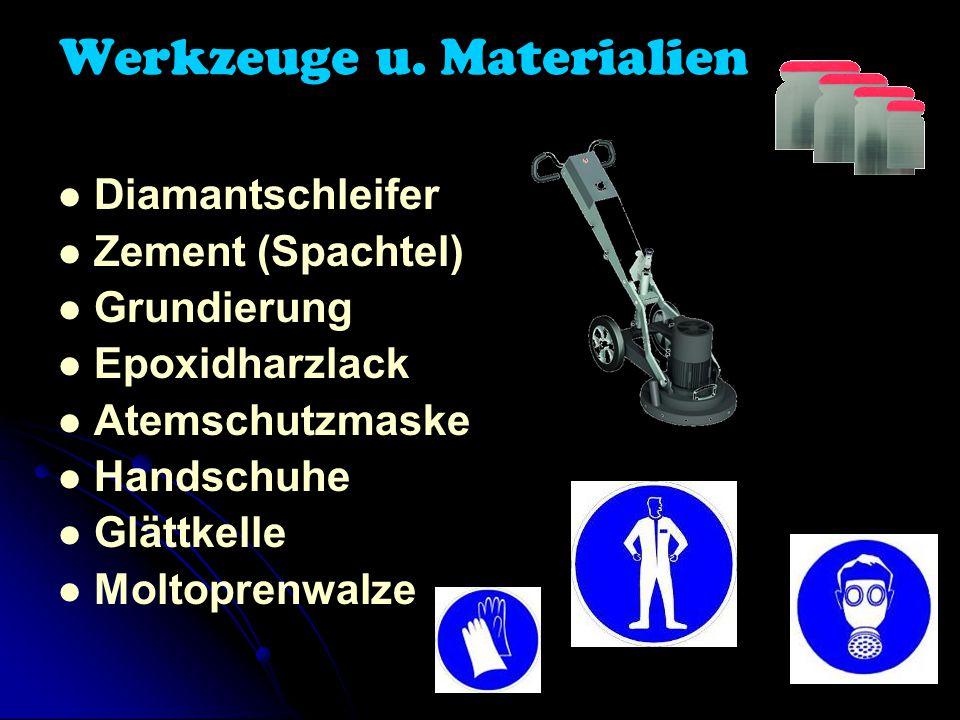 Werkzeuge u. Materialien
