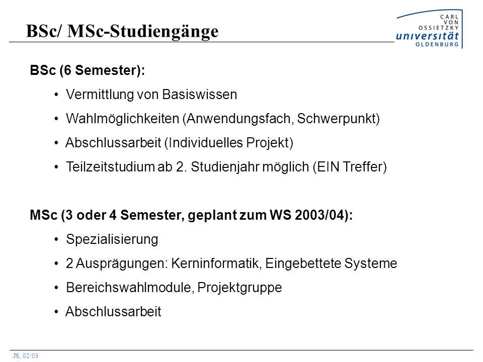 BSc/ MSc-Studiengänge