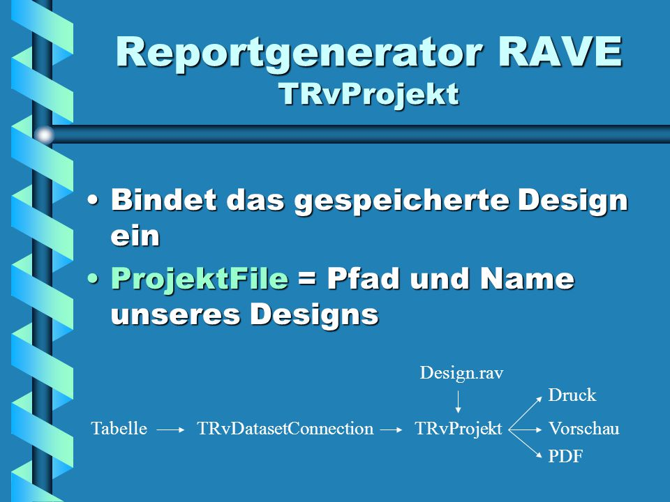 Reportgenerator RAVE TRvProjekt