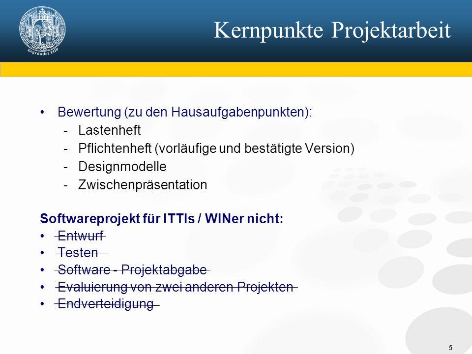 Kernpunkte Projektarbeit