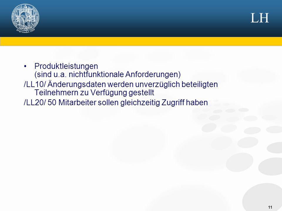 LH Produktleistungen (sind u.a. nichtfunktionale Anforderungen)