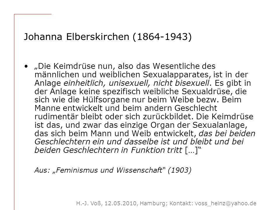 3 Um 1900: Jeder Mensch ist 'Frau' und 'Mann'