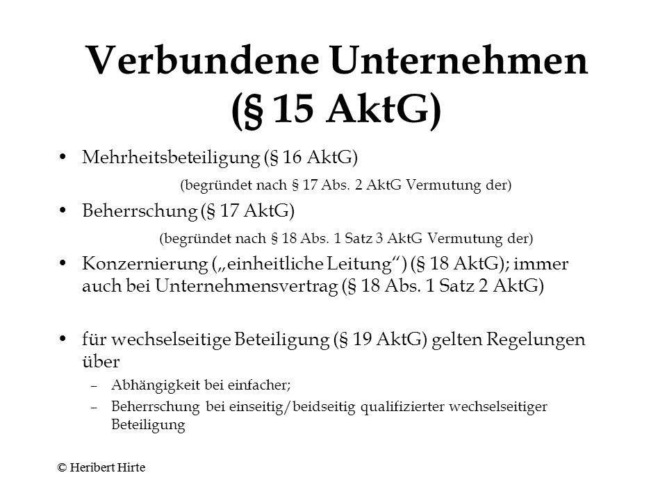 Verbundene Unternehmen (§ 15 AktG)